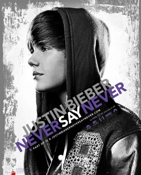 Justin Bieber - never say Poster