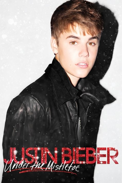JUSTIN BIEBER - under the mistletoe Poster