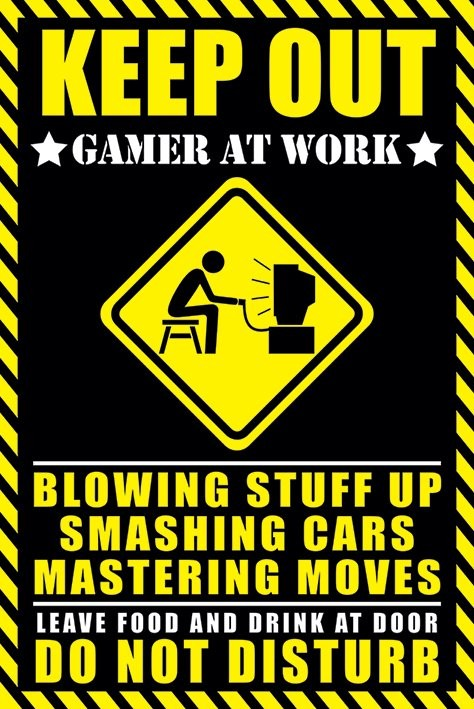 Teenage bedroom tumblr quotes - Keep Out Gamer At Work Poster Sold At Europosters