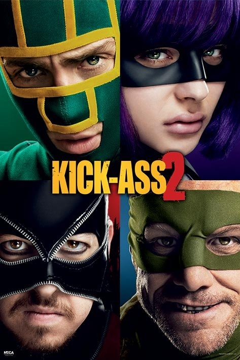 KICK ASS 2 - cast Poster