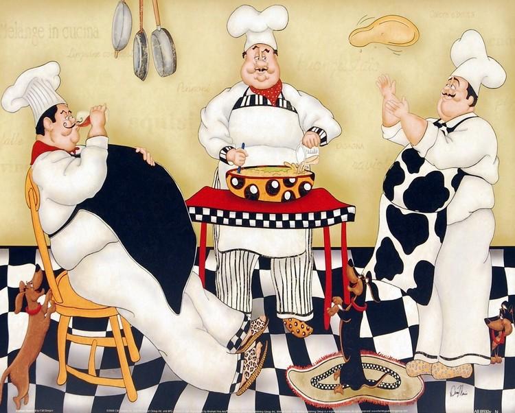 Kitchen Kapers I Art Print