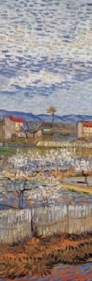 La Crau with Peach Trees in Blossom, 1889 Art Print