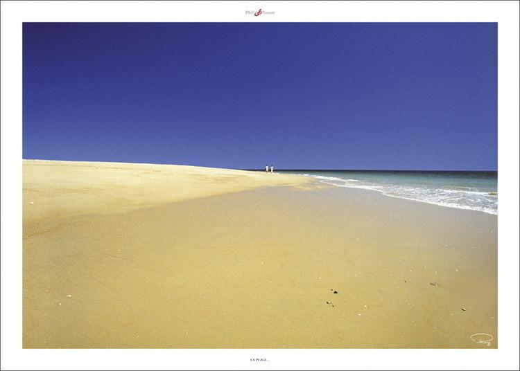 La plage ... Art Print