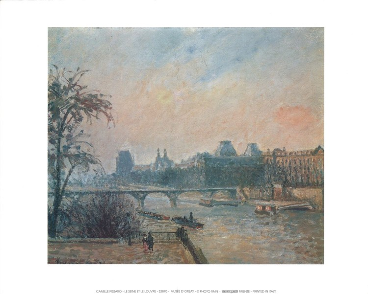 La Seine et le Louvre - The Seine and the Louvre, 1903 Art Print