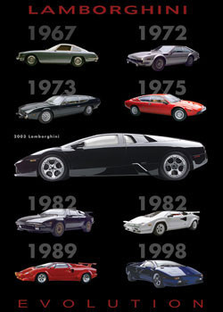 Lambourghini evolution Poster