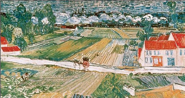 Landscape at Auvers after the Rain, 1890 (part.) Art Print