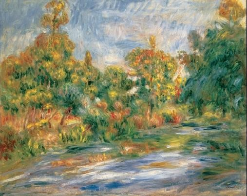 Landscape with River, 1917 Art Print