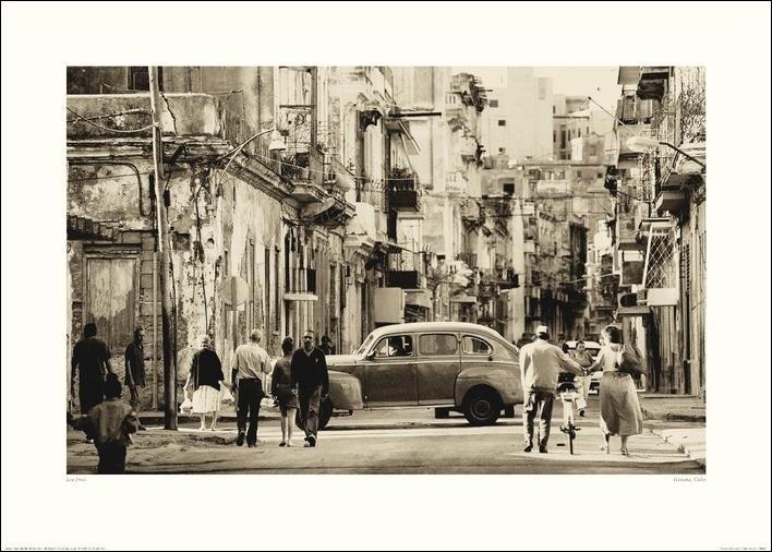 Lee Frost - Havana Street, Cuba Art Print