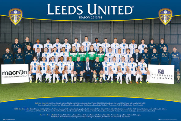 Leeds United AFC - Team Photo 13/14 Poster