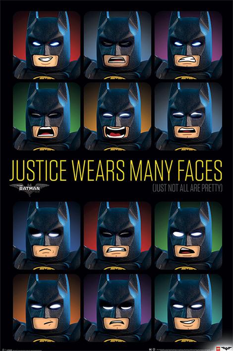 Poster Quadro Lego Batman Justice Wears Many Faces Em