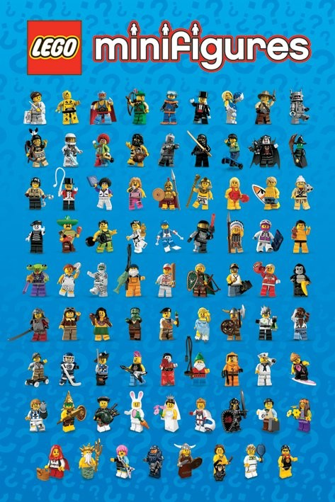 LEGO - mini figures Poster, Art Print