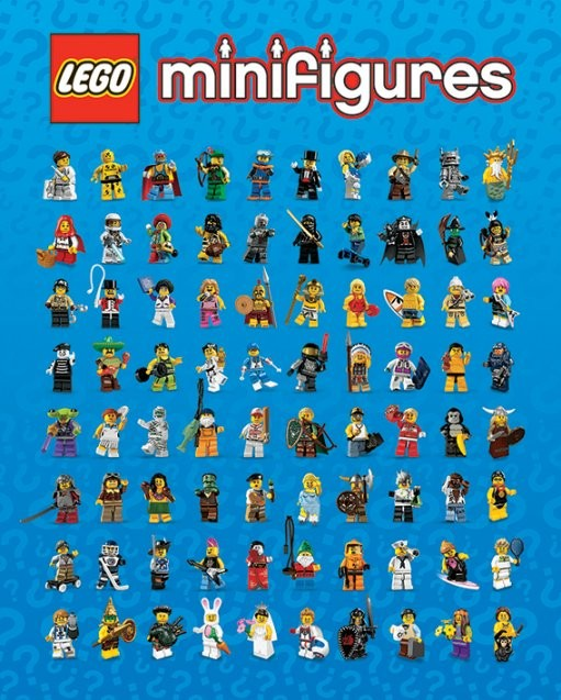 LEGO - minifigures Poster   Sold at Europosters