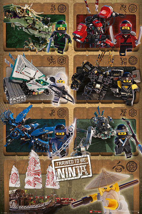 Lego Ninjago Movie - Ninjas and Mechs Poster | Sold at Abposters.com