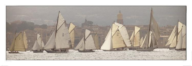 Les voiles de Saint-Tropez Art Print
