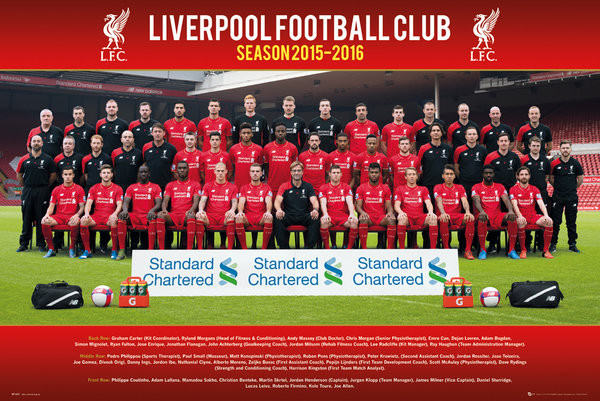 Liverpool FC - Team Photo 15/16 Poster