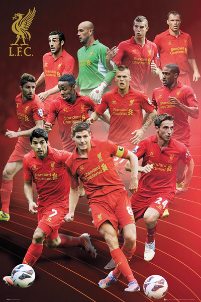 Liverpool - players 12/13 Poster, Art Print