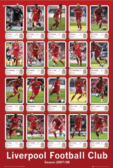Liverpool - squad profiles 07/08 Poster
