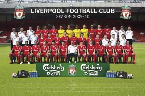 Liverpool - Team photo 09/10 Poster