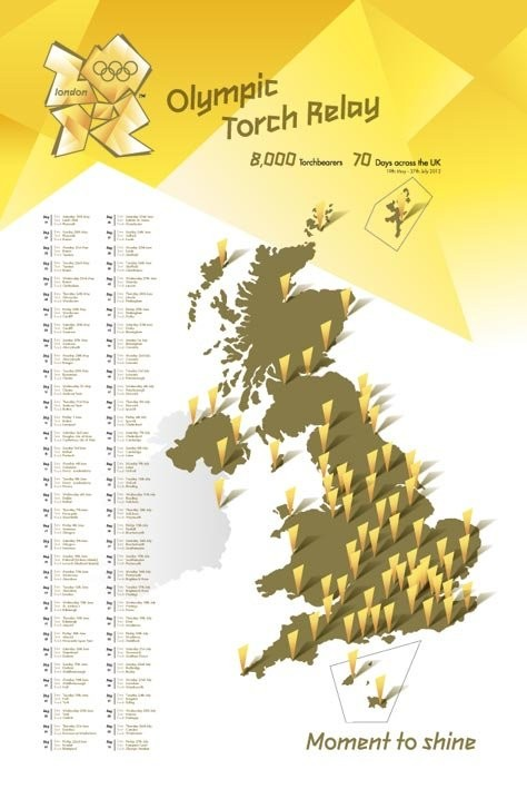 London 2012 - olympic torch relay Poster