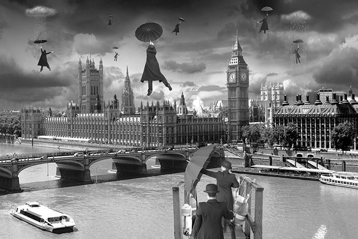 London blown away thomas barbey poster