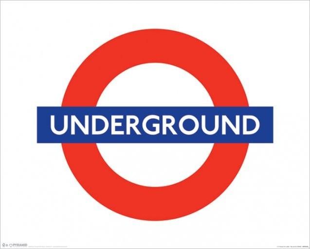Poster London - underground sign