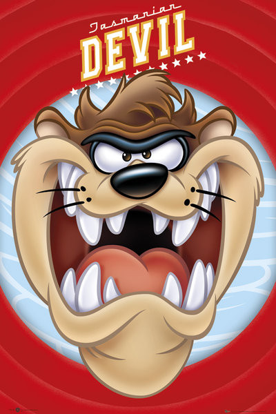 Looney Tunes Taz Face V17814 on looney tunes birthday cartoon