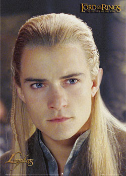 Lord of the Rings - Legolas portrait Poster