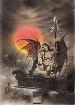 Luis Royo - black tinkerbell Poster, Art Print