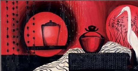 Luna rossa Art Print