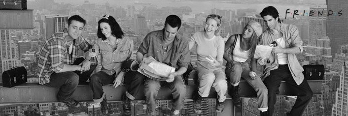 Lunch on a skyscraper - friends Poster, Art Print