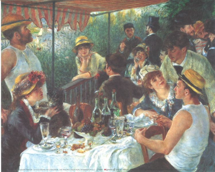 Luncheon of the Boating Party, 1880-81 Art Print