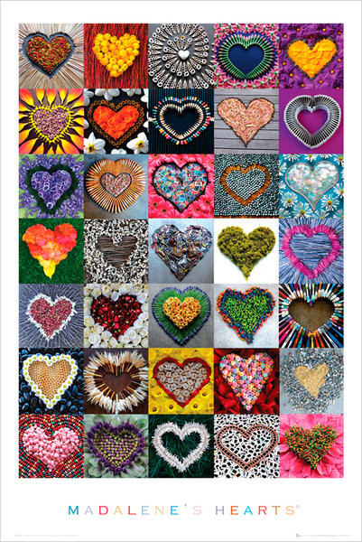 Madalene's hearts – hearts Poster, Art Print