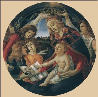 Madonna of the Magnificat, 1481-85 Art Print