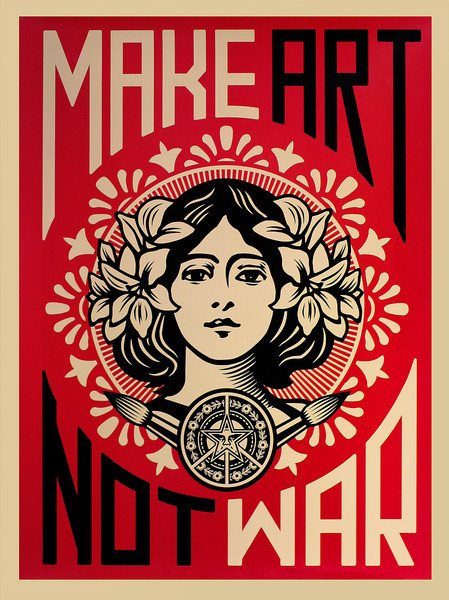 Make Art Not War Poster
