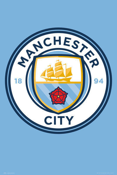 Manchester City - Crest 15/16 Poster