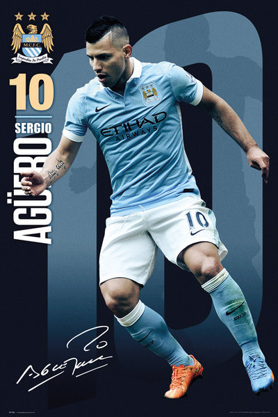 Manchester City FC - Aguero 15/16 Poster