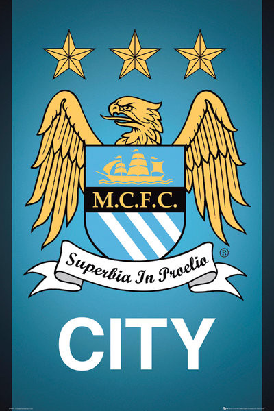 Poster Manchester City FC - Crest 13/14