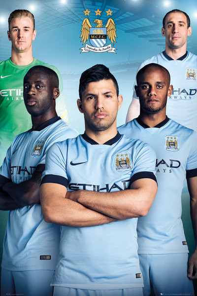 Poster Quadro Manchester City Fc Players 14 15 Em Europosters Pt
