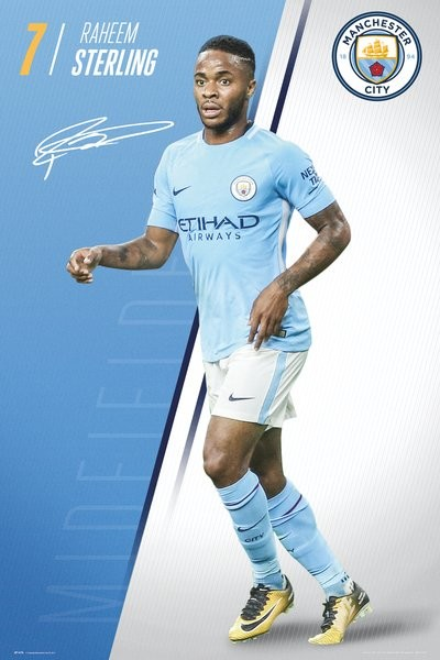 Manchester City FC - Sterling 17-18 Poster | Sold at Abposters.com