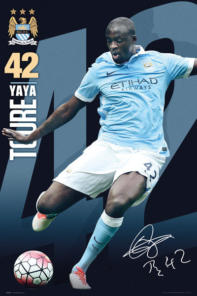 Poster Manchester City FC - Toure 15/16