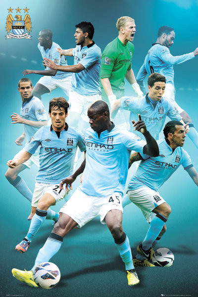 Manchester City - players 12/13 Poster, Art Print
