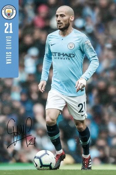 Manchester City - Silva 18-19 Poster