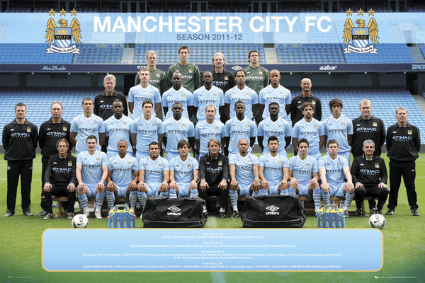 Manchester City - Team 11/12 Poster
