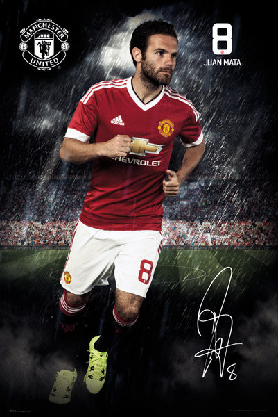 Pôster Manchester United FC - Mata 15/16