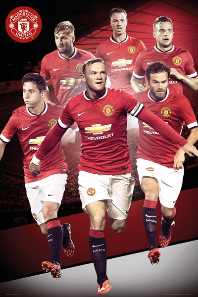 manchester united fc  15 poster