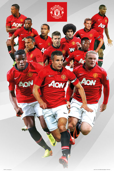 Manchester United Players 13 14 Poster Sold At Ukposters