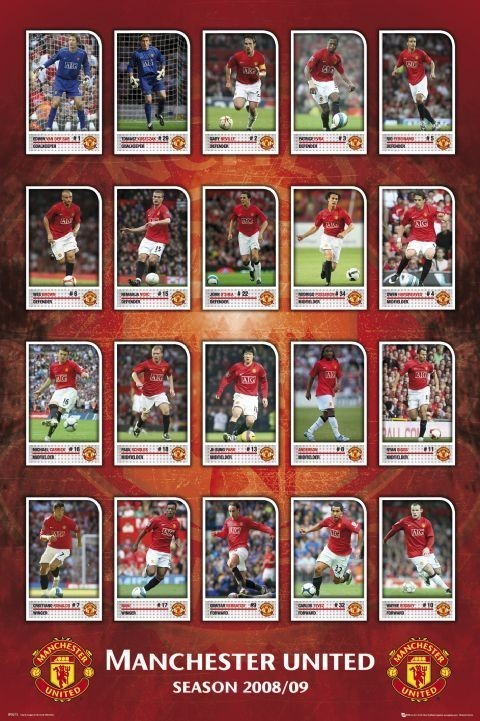 Manchester United - squad profiles 08/09 Poster, Art Print