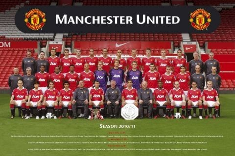 Pôster Manchester United - Team photo 10/11