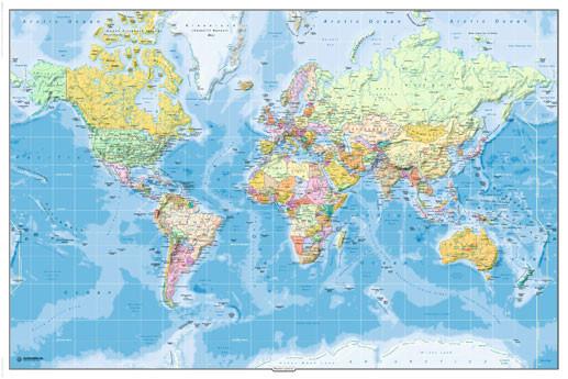 Poster Quadro Mapa Mundi Politico 2011 Em Europosters Pt
