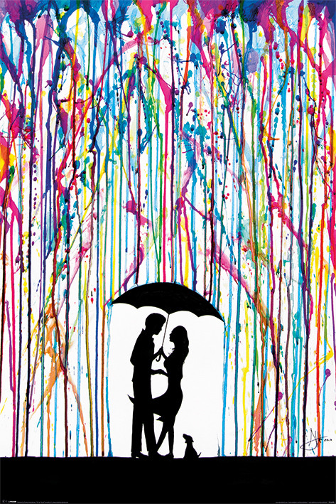 Marc Allante - Raining Colour Poster